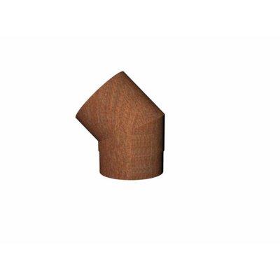 """Forno (voorheen bekent als """"Burni"""") rookgasafvoer Corten staal look 45 graden"""