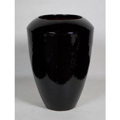 Plantenbak Coppa zwart glans