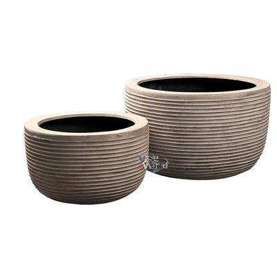 Beige Bali Stripe - set (2)