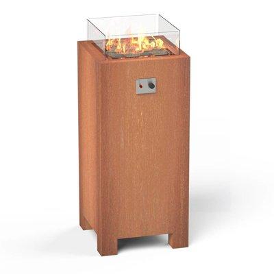 Hoge vuurtafel Burni Brann 55 zuil - Cortenstaal