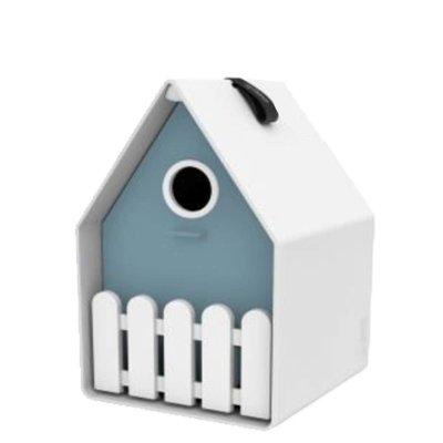 Landhaus vogelhuis grijsblauw, het ideale nestkastje