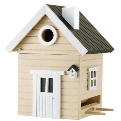 Multiholk Beige huis,  het leukste nestkastje en voederhuisje in één