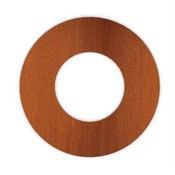 XL Rosette rond  204mm Corten Staal look