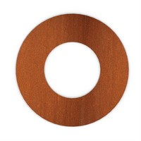 XL Rosette rond 204mm  Staal