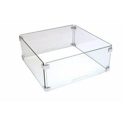 Burni Brann vierkante glassset voor een veilige gashaard