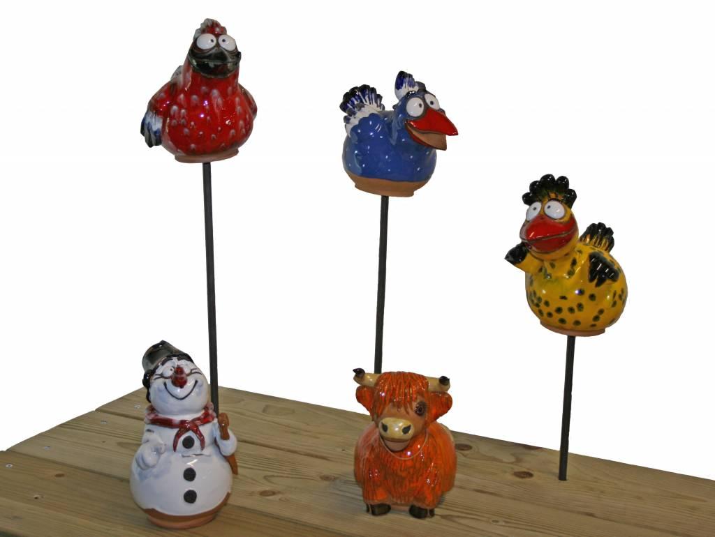 Winterharde decoratieve tuinbollen van keramiek