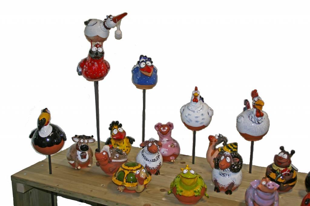 Decoratieve tuinbollen van keramiek
