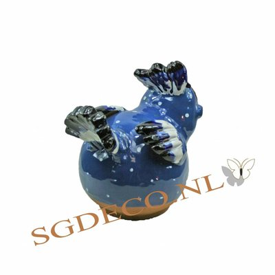 Decoratieve tuinbol - Blauwe vogel