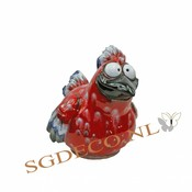 Decoratieve tuinbol - Rode vogel