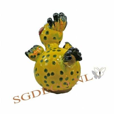 Decoratieve tuinbol - Gele vogel