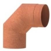 """Forno (voorheen bekent als """"Burni"""") rookgasafvoer Corten staal look 90 graden"""