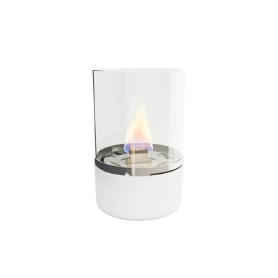 Tenderflame tafelhaard Tower - white mini haard voor binnen of buiten