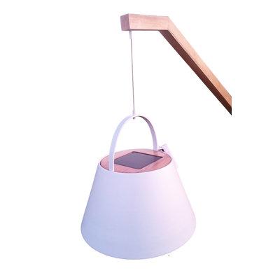 Een stijlvolle solar salonlamp voor buiten; Jane van Suns - (mat wit)