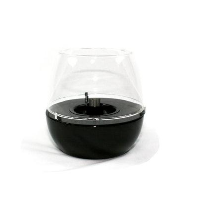 Tenderflame tafelhaard Tulip 18cm ronde brander - black mini haard voor binnen of buiten