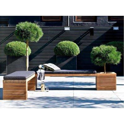 Modulo teak houten bank