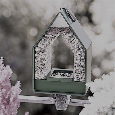 Landhaus vogel voederdispencer mooi mos groen