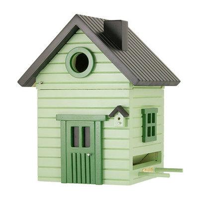 Multiholk licht groen,  het leukste nestkastje en voederhuisje in één