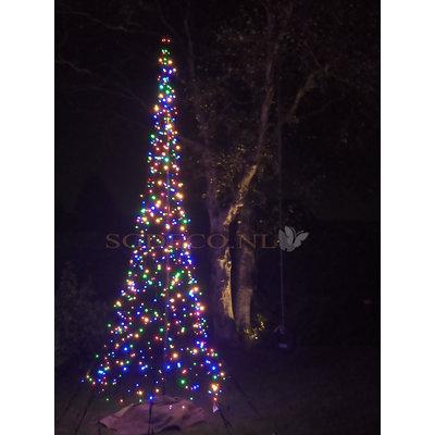Fairybell Kerstboom 600cm met 1200 ledlampjes (met gekleurde lampjes)