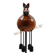Decoratieve tuinbol Paard - bruin