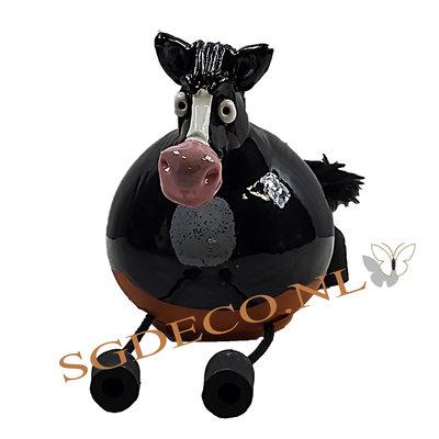 Decoratieve tuinbol Paard - zwart