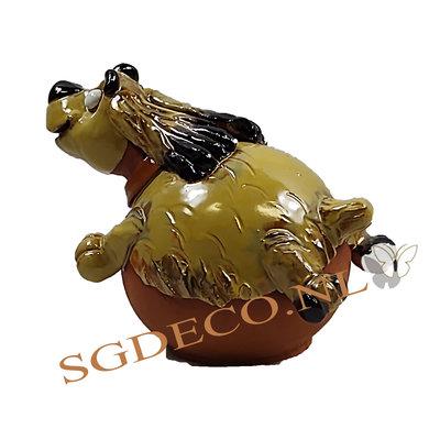 Decoratieve tuinbol speelse hond