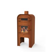 Forno Gap met pizza-oven - Cortenstaal