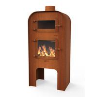 Forno Gap met pizza-oven XL - Cortenstaal