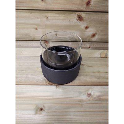 Tenderflame tafelhaard Ivy 22 Ceramic zwart - mini haard voor binnen of buiten