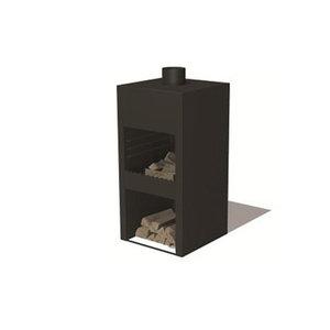 Forno / Burni Stig met deur - gecoat staal