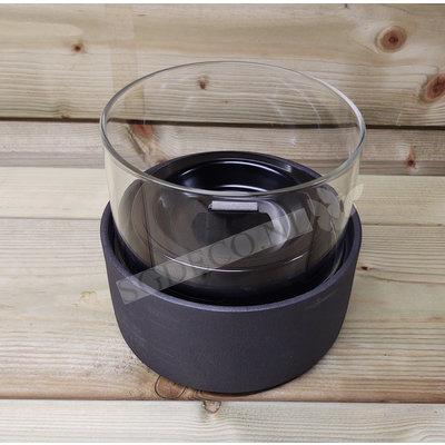 Tenderflame tafelhaard Ivy 13 Ceramic zwart - mini haard voor binnen of buiten