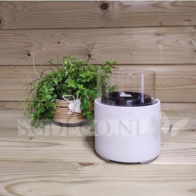 Tenderflame tafelhaard Ivy 17 Ceramic wit  - mini haard voor binnen of buiten