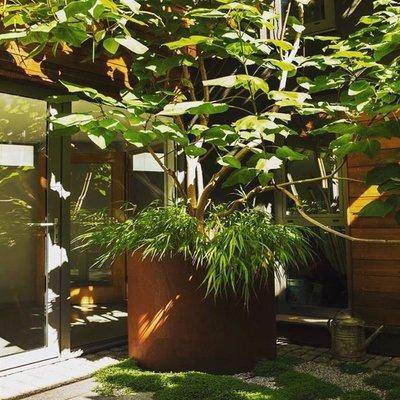 Plantenbak Atlas-rond in Cortenstaal, diverse maten