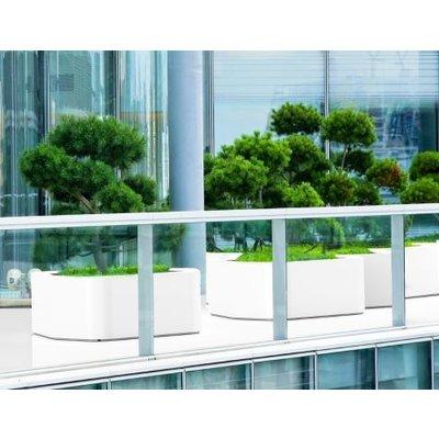 Grote polyester plantenbak Shape hoogglans, diverse  kleuren  -  vrije vorm