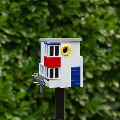 Multifunctioneel vogelhuis De Stijl,  het leukste nestkastje en voederhuisje in één