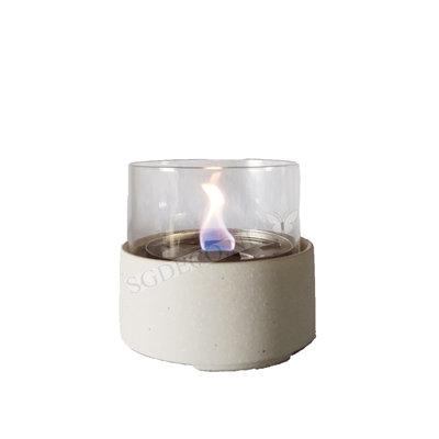 Tenderflame tafelhaard Ivy 13 Ceramic wit  - mini haard voor binnen of buiten