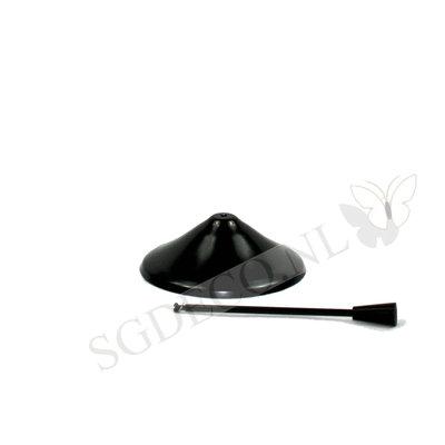Tenderflame tafelhaard Rose 14cm ronde brander - zwarte mini haard voor binnen of buiten