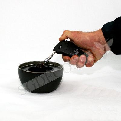 Tenderflame tafelhaard Café 14 cm Lava Black - mini haard voor binnen of buiten