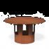 """Forno (voorheen bekent als """"Burni"""") regenkap Corten staal look XL"""