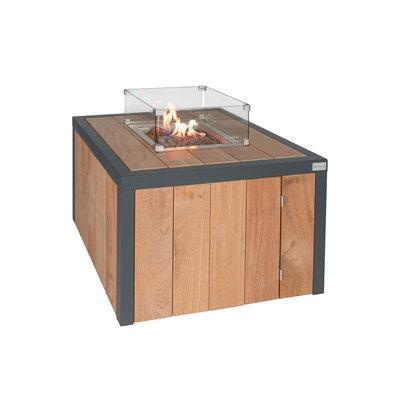 Vuurtafel Box van Easyfires, mooie gastuinhaard op propaan of aardgas