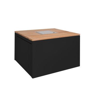 Vuurtafel Cube van Easyfires, mooie gastuinhaard op propaan of aardgas