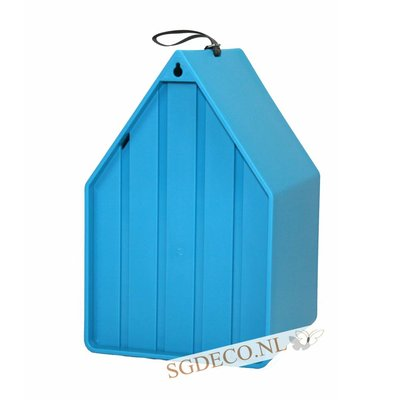Landhaus vogelhuis turquoise blauw, het ideale nestkastje