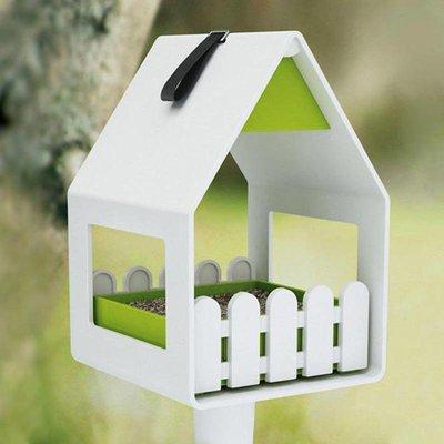 Landhaus 3 in 1 vogelvoederhuisje geel