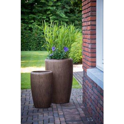 Lichtgewicht plantenbak Twist brons