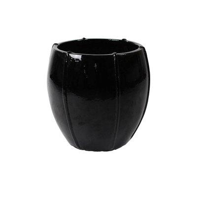 Plantenbak Moda Couple 55 zwart glans