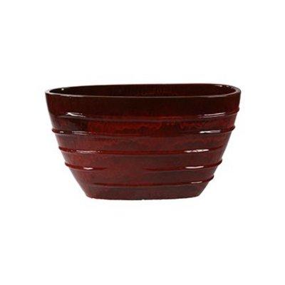Plantenbak Beauty Oval klassiek rood