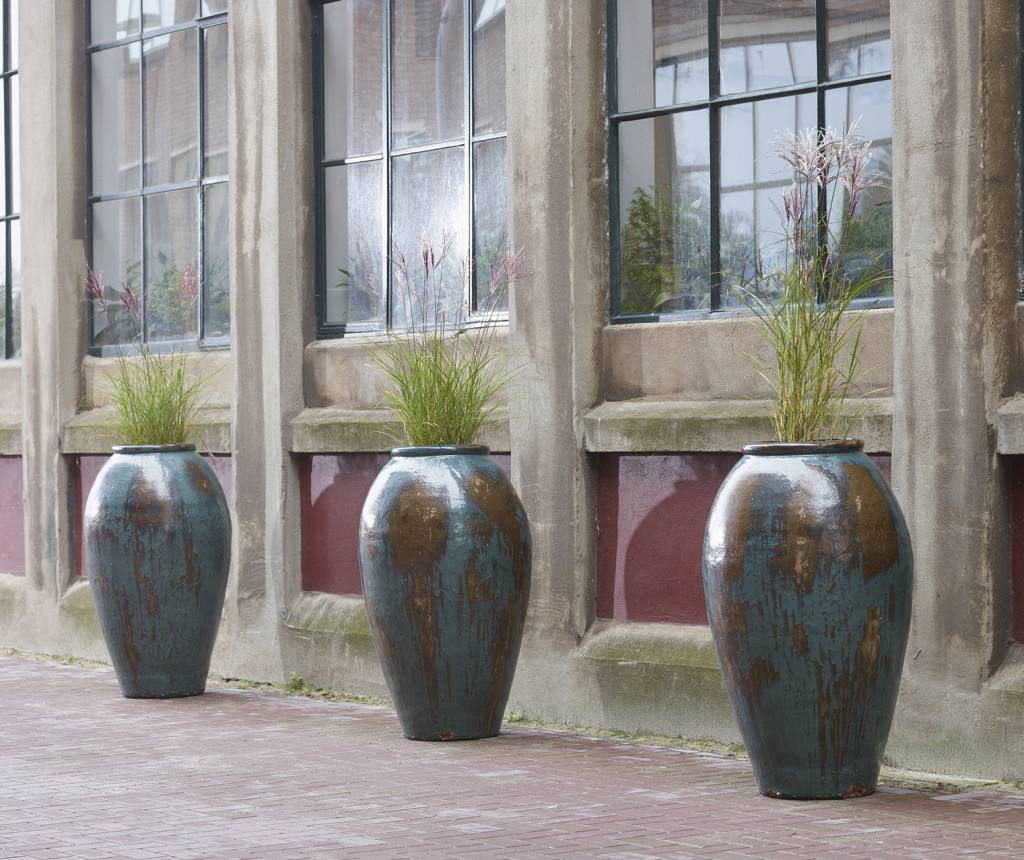 Keramische plantenbakken