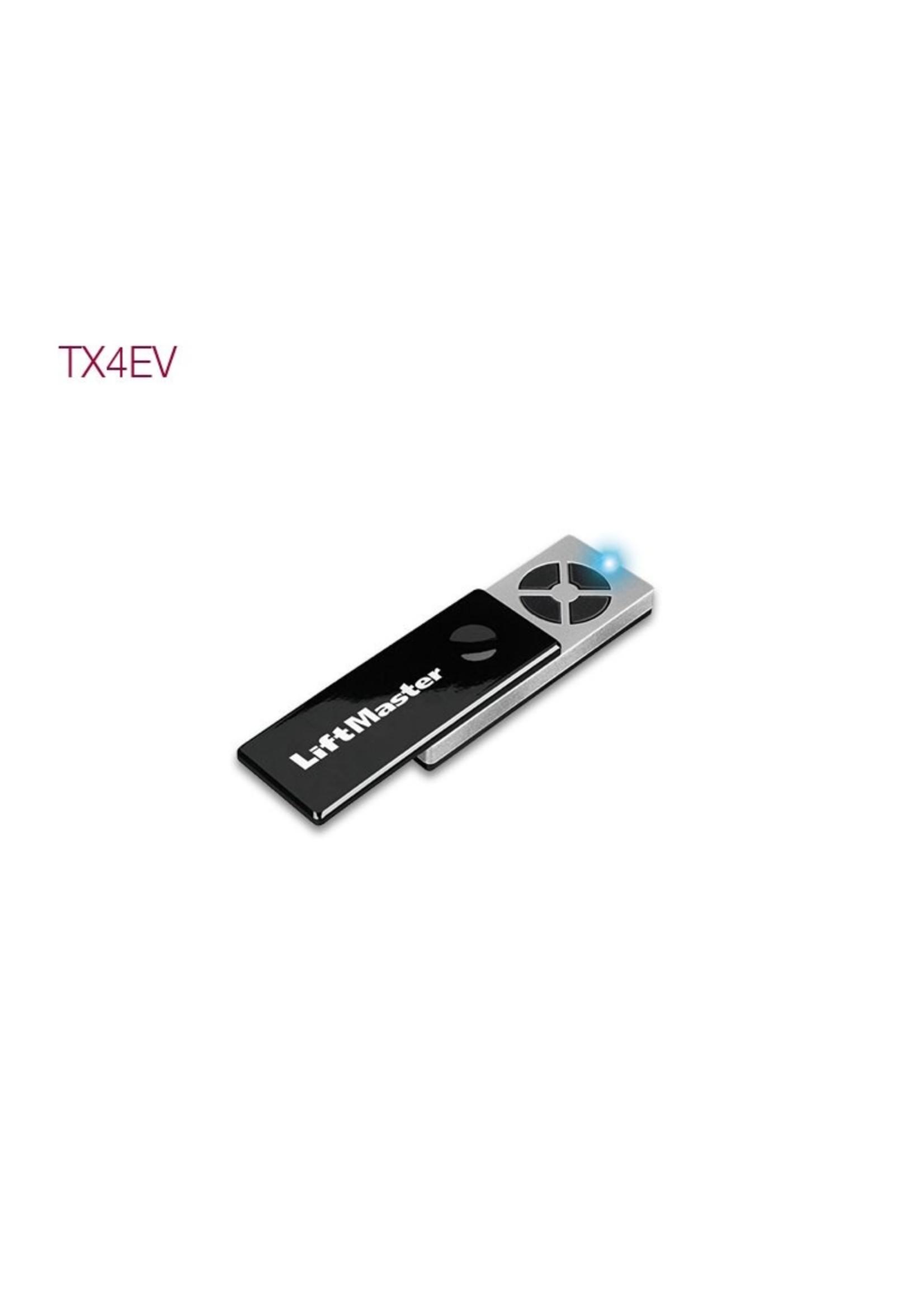 Liftmaster TX4EV Liftmaster 868Mhz handzender 4 kanalen