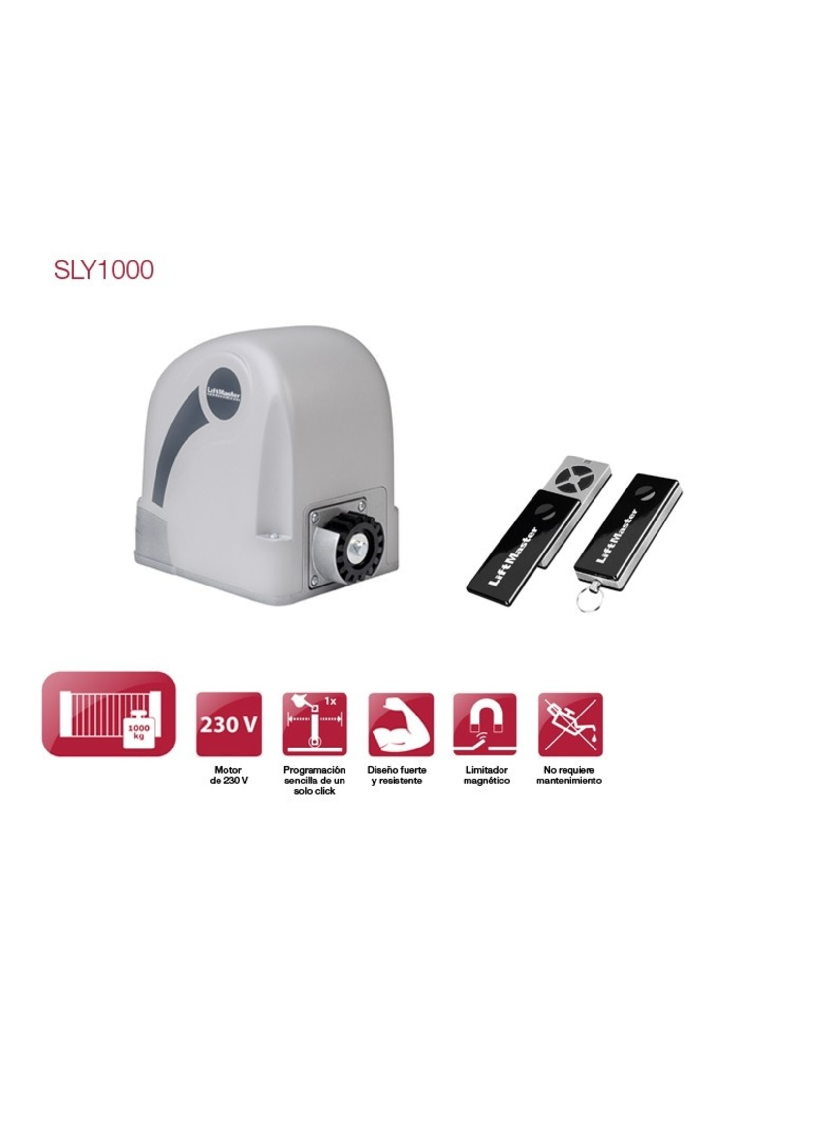 Liftmaster SLY1000K 230V Operateur pour portail coulissant