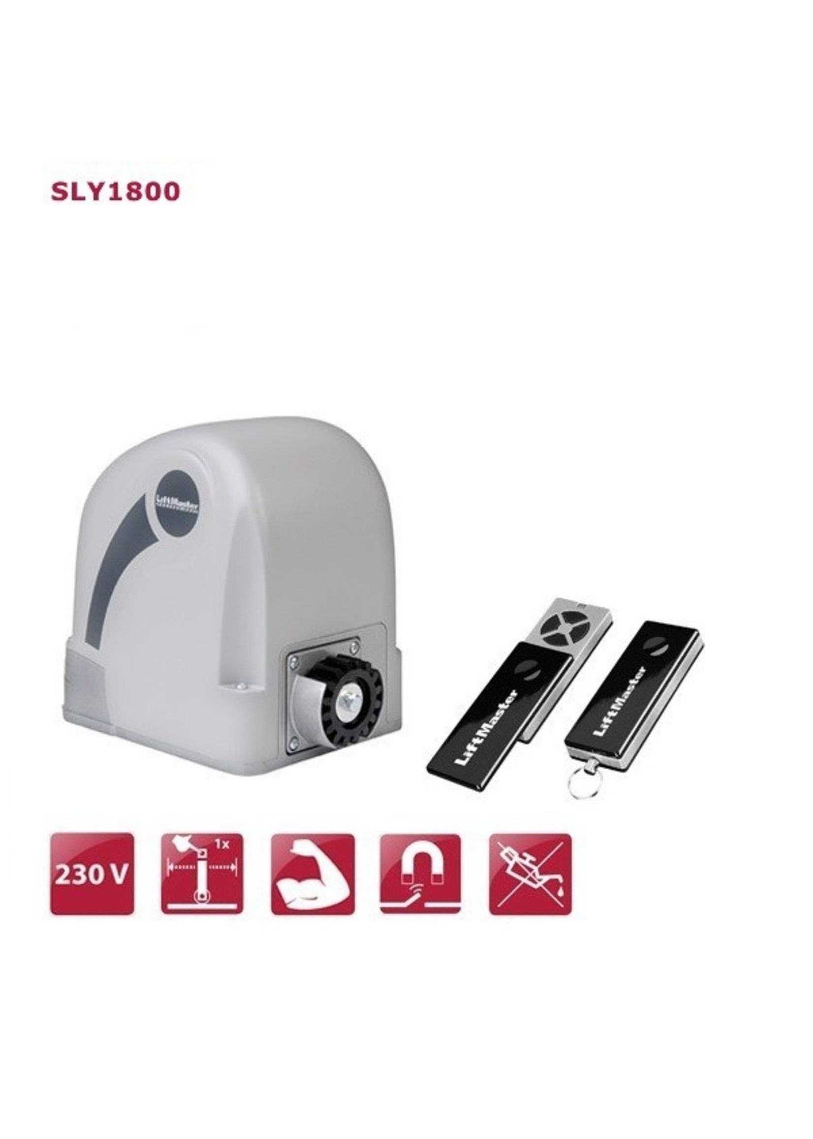Liftmaster SLY1800K 230V Operateur pour portail coulissant