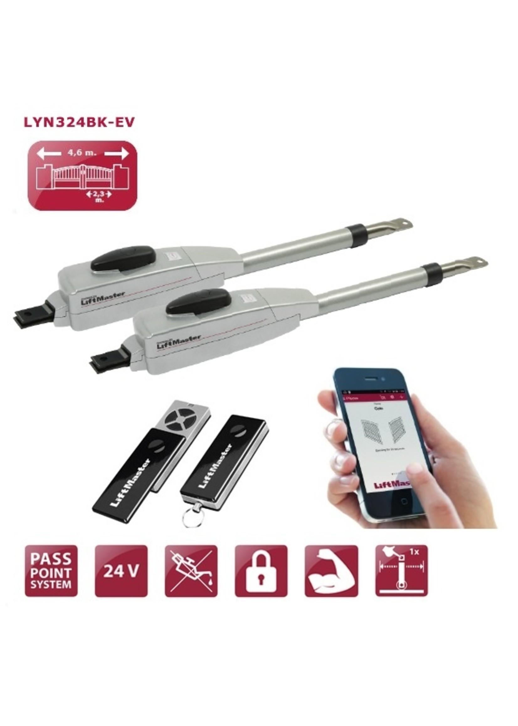 Liftmaster LYN324BK-EV Poortopener kit voor vleugelpoorten LYN300-24